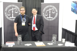 Joshua Wolfe (left) and Scott Mandia (right) at 2012 AGU